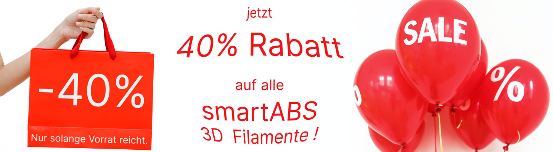 40% Rabatt auf smartABS 3D Filament