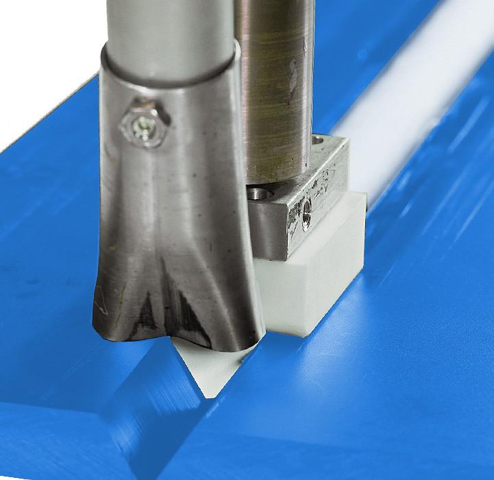 V-Naht oder X-Naht, 80 mm lang Schweißschuh für den Munsch MAK 36, 40, 48 und MAK 58