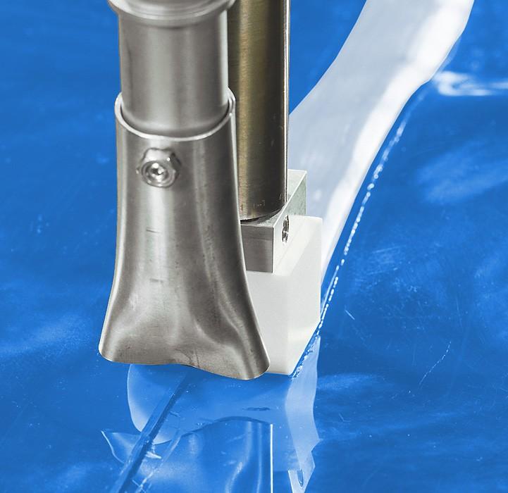Folien-Naht, 40 mm lang Schweißschuh für den Munsch MAK 36, 40, 48 und MAK 58
