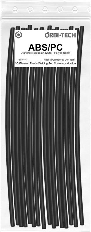 ABS/PC Reparatur-Sticks (25 Sticks á 20 cm) Schwarz
