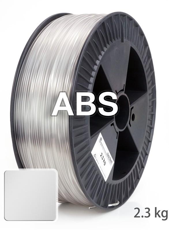 ABS Filament 1,75 mm, 2.300 g Klar / Transparent
