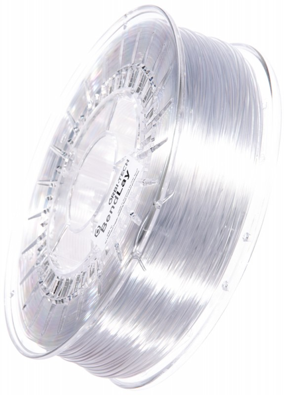 BendLay Filament, Glasklar / Transparent, 1,75 mm, 750 g