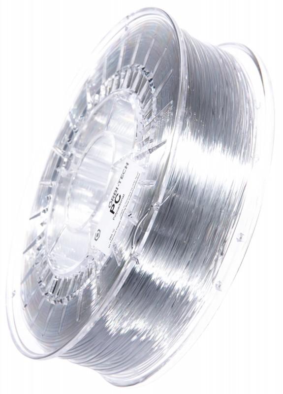 PC Filament 1,75 mm, 750 g, Glasklar / Transparent