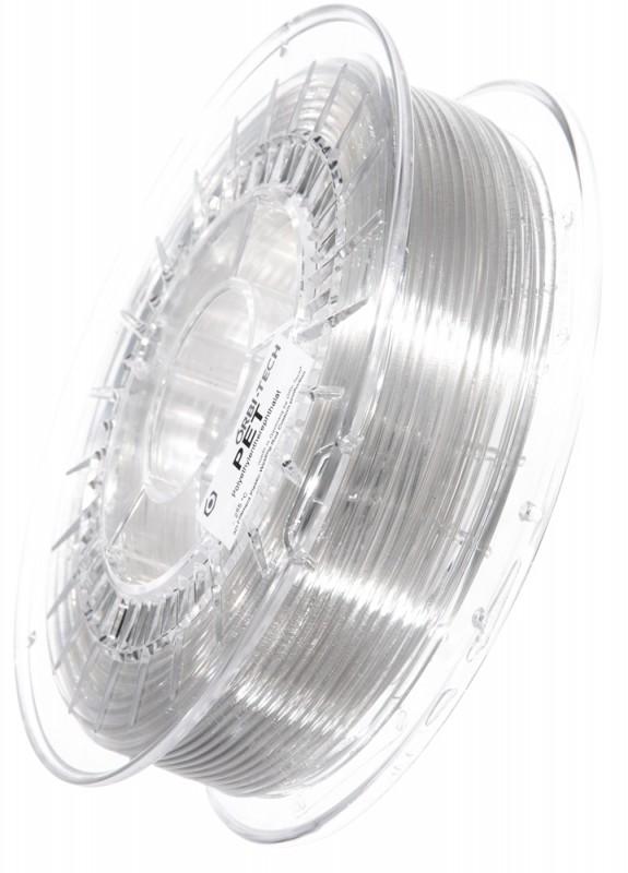 PET 3D Filament 2,85 mm, 750 g, Klar / Transparent
