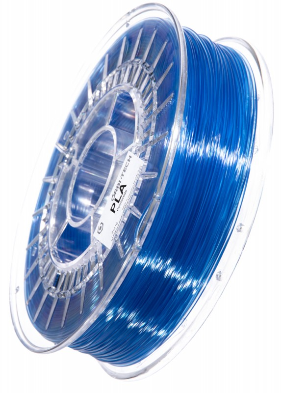 PLA 3D Filament 1.75 mm, 750 g, Blau-transparent