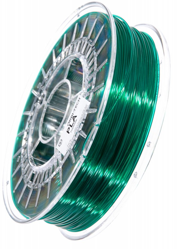 PLA 3D Filament 1.75 mm, 750 g, Grün-transparent