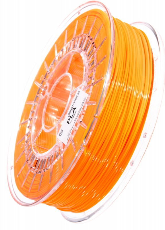 PLA 3D Filament 1.75 mm, 750 g, Leucht-Orange