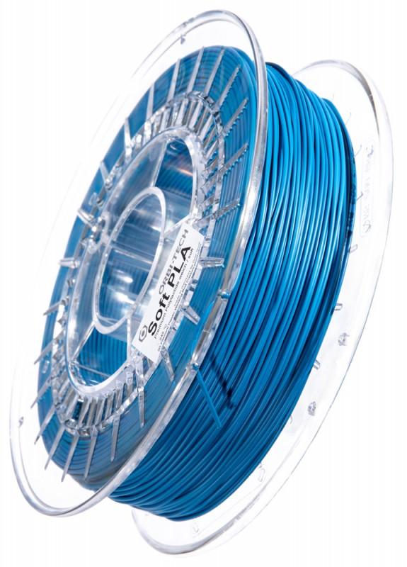 Soft PLA 3D Filament 1.75 mm, 750 g, Blau
