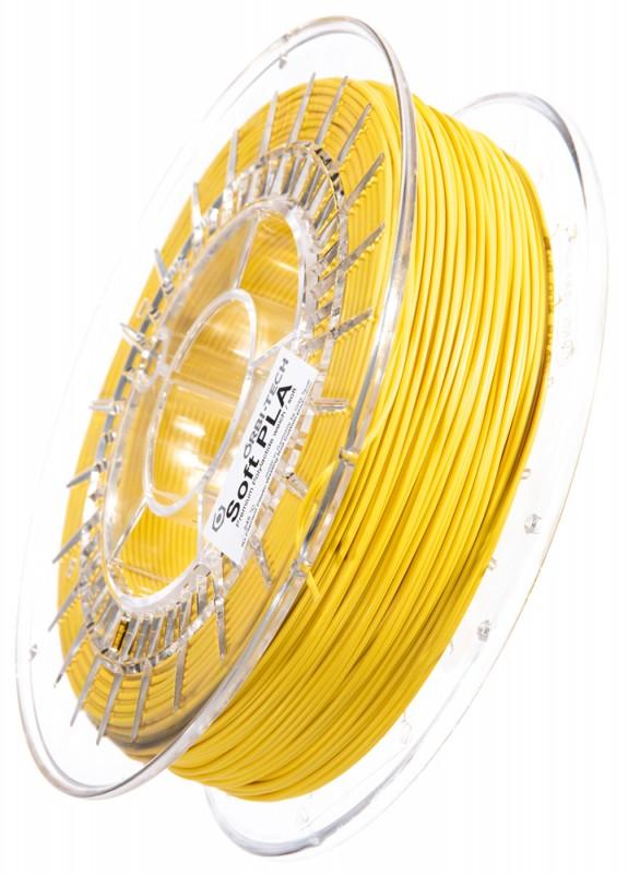 Soft PLA 3D Filament 1.75 mm, 750 g, Gelb