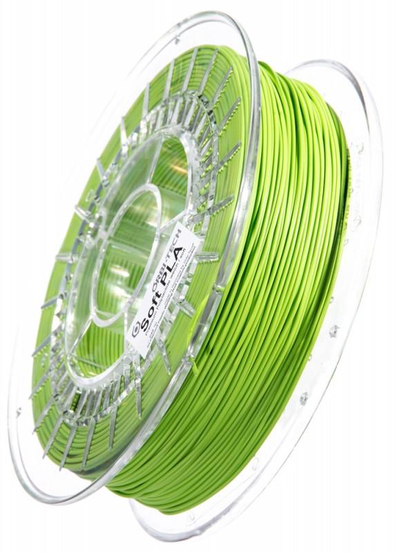Soft PLA 3D Filament 1.75 mm, 750 g, Grün