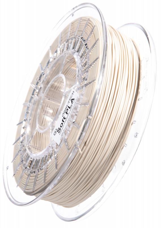 Soft PLA 3D Filament 1.75 mm, 750 g, Natur