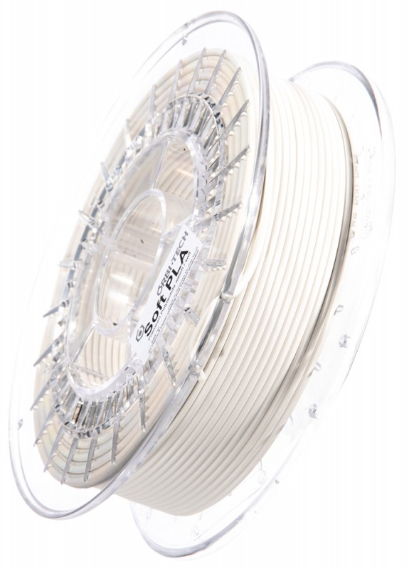 Soft PLA 3D Filament 2,85 mm, 750 g, Weiß