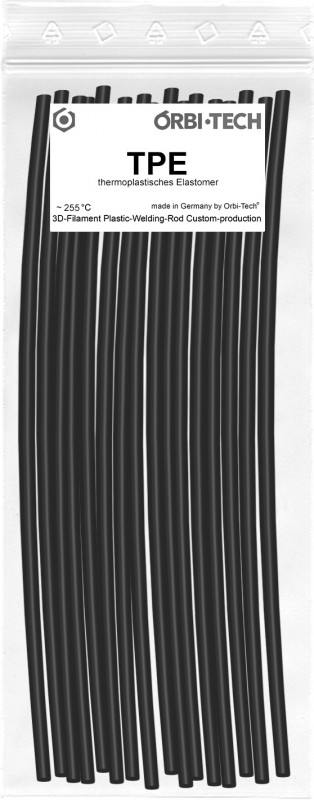TPE Repair Sticks (25 Sticks at 20 cm) Black