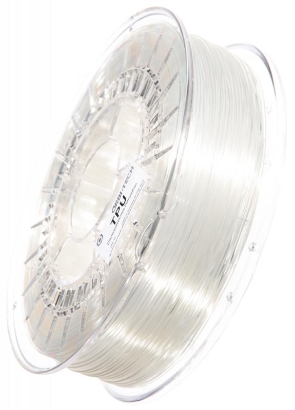 TPU 3D Filament Transparent, klar, 750 g 1,75 mm
