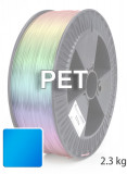 PET Filament 1,75 mm, 2.300 g, Blau-Transparent