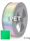 PET Filament 1,75 mm, 2.300 g, Grün-Transparent