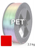 PET Filament 1,75 mm, 2.300 g, Rot-Transparent