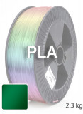 PLA 3D Filament 1.75 mm, 2.300 g, Grün-transparent