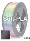 Soft PLA 3D Filament 1.75 mm, 2.300 g, Schwarz