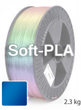 Soft PLA 3D Filament 1.75 mm, 2.300 g, Blau