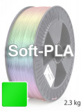 Soft PLA 3D Filament 2,85 mm, 2.300 g, Grün