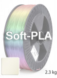 Soft PLA 3D Filament 1.75 mm, 2.300 g, Natur