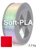 Soft PLA 3D Filament 1.75 mm, 2.300 g, Rot