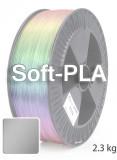 Soft PLA 3D Filament 1.75 mm, 2.300 g, Silber