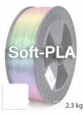 Soft PLA 3D  Filament 1.75 mm, 2.300 g, Weiß