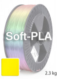 Soft PLA 3D Filament 1.75 mm, 2.300 g, Gelb